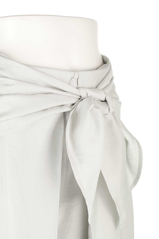 FrontRibbonDeepTuckWidePantsリボン付き・ワイドタックパンツ大人カジュアルに最適な海外ファッションのothers(その他インポートアイテム)のボトムやパンツ。フロントのリボンが特徴のワイドパンツ。ソフトな生地を使用した涼しげなアイテム。/main-20