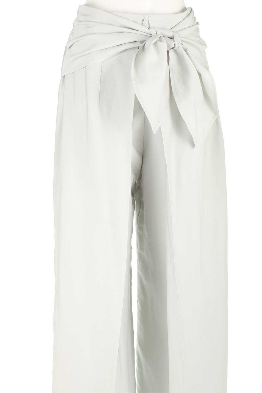 FrontRibbonDeepTuckWidePantsリボン付き・ワイドタックパンツ大人カジュアルに最適な海外ファッションのothers(その他インポートアイテム)のボトムやパンツ。フロントのリボンが特徴のワイドパンツ。ソフトな生地を使用した涼しげなアイテム。/main-22