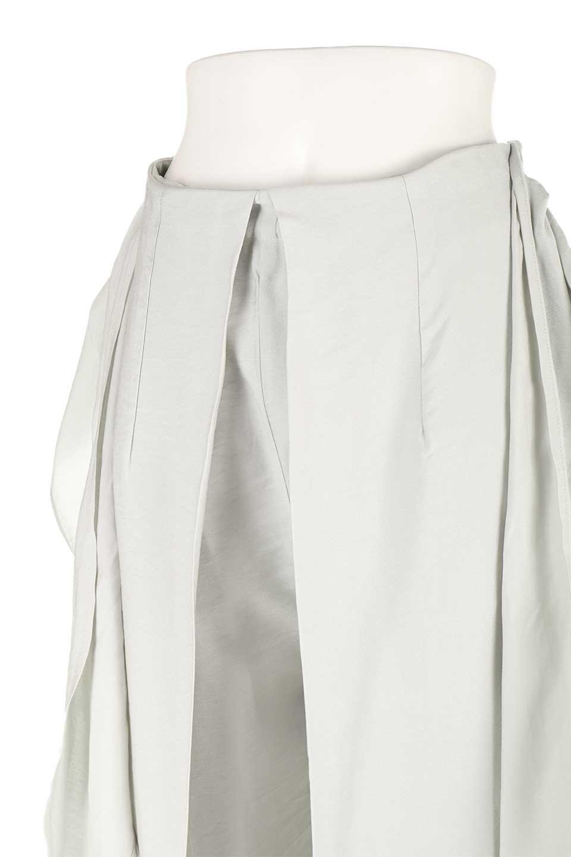 FrontRibbonDeepTuckWidePantsリボン付き・ワイドタックパンツ大人カジュアルに最適な海外ファッションのothers(その他インポートアイテム)のボトムやパンツ。フロントのリボンが特徴のワイドパンツ。ソフトな生地を使用した涼しげなアイテム。/main-23