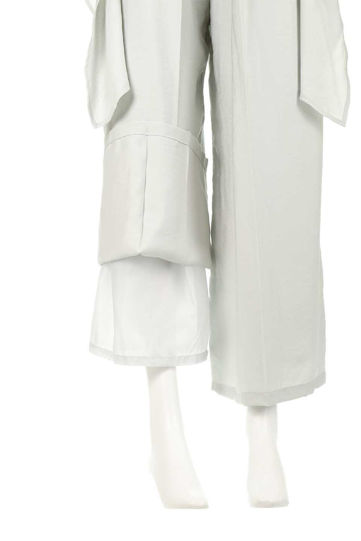 FrontRibbonDeepTuckWidePantsリボン付き・ワイドタックパンツ大人カジュアルに最適な海外ファッションのothers(その他インポートアイテム)のボトムやパンツ。フロントのリボンが特徴のワイドパンツ。ソフトな生地を使用した涼しげなアイテム。/main-26