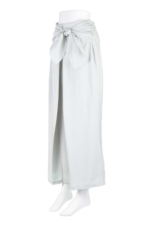 FrontRibbonDeepTuckWidePantsリボン付き・ワイドタックパンツ大人カジュアルに最適な海外ファッションのothers(その他インポートアイテム)のボトムやパンツ。フロントのリボンが特徴のワイドパンツ。ソフトな生地を使用した涼しげなアイテム。/main-5