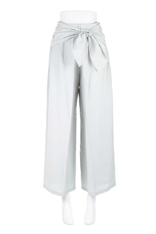 FrontRibbonDeepTuckWidePantsリボン付き・ワイドタックパンツ大人カジュアルに最適な海外ファッションのothers(その他インポートアイテム)のボトムやパンツ。フロントのリボンが特徴のワイドパンツ。ソフトな生地を使用した涼しげなアイテム。/main-9