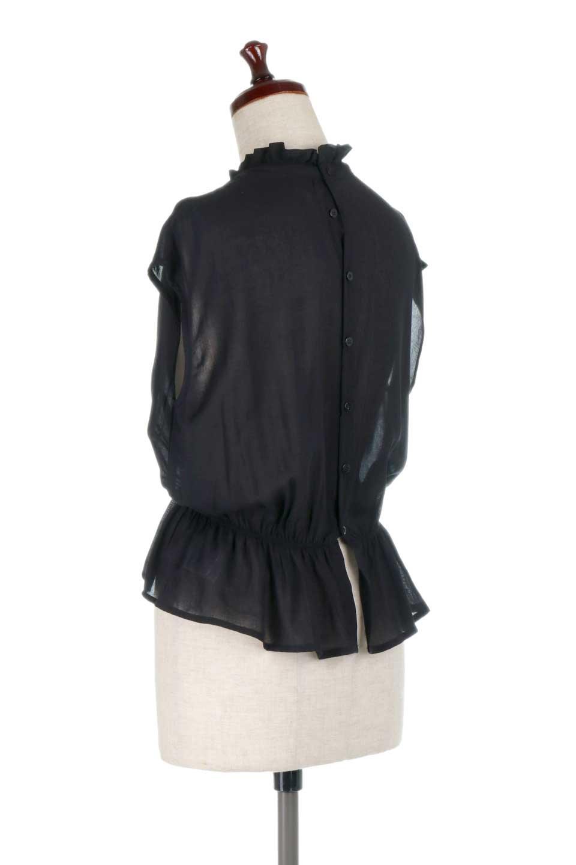 FrilledNeckSleevelessBlouseギャザーネック・ノースリーブブラウス大人カジュアルに最適な海外ファッションのothers(その他インポートアイテム)のトップスやシャツ・ブラウス。フリルの首元が可愛いノースリーブブラウス。ゆったりシルエットですがウエストのギャザーが引き締めてくれます。/main-18