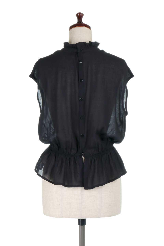FrilledNeckSleevelessBlouseギャザーネック・ノースリーブブラウス大人カジュアルに最適な海外ファッションのothers(その他インポートアイテム)のトップスやシャツ・ブラウス。フリルの首元が可愛いノースリーブブラウス。ゆったりシルエットですがウエストのギャザーが引き締めてくれます。/main-19