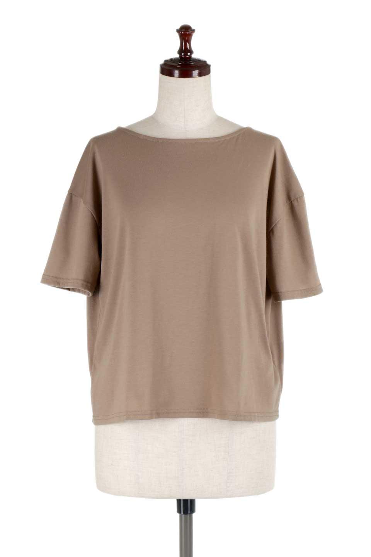 DrapeBackPull-overTopバックドレープ・カットソー大人カジュアルに最適な海外ファッションのothers(その他インポートアイテム)のトップスやシャツ・ブラウス。背中のドレープ感が可愛い半袖カットソー。やや厚めのTシャツ素材でこれからの季節におすすめのアイテムです。/main-10
