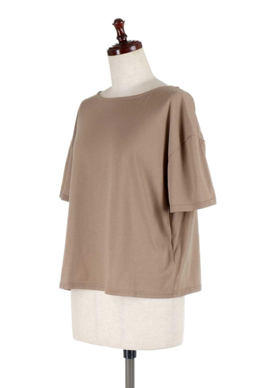 DrapeBackPull-overTopバックドレープ・カットソー大人カジュアルに最適な海外ファッションのothers(その他インポートアイテム)のトップスやシャツ・ブラウス。背中のドレープ感が可愛い半袖カットソー。やや厚めのTシャツ素材でこれからの季節におすすめのアイテムです。/main-11