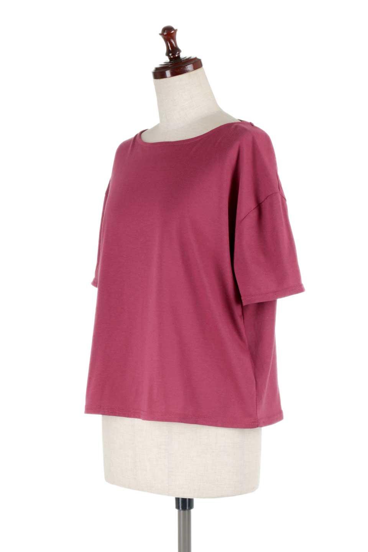 DrapeBackPull-overTopバックドレープ・カットソー大人カジュアルに最適な海外ファッションのothers(その他インポートアイテム)のトップスやシャツ・ブラウス。背中のドレープ感が可愛い半袖カットソー。やや厚めのTシャツ素材でこれからの季節におすすめのアイテムです。/main-16