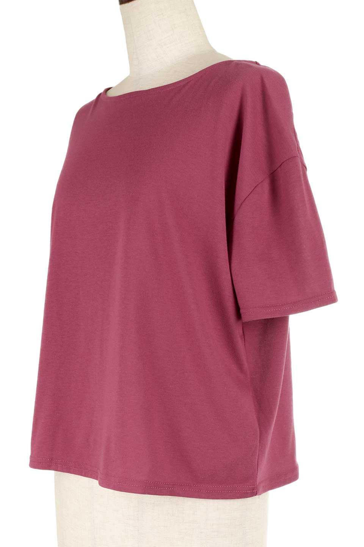 DrapeBackPull-overTopバックドレープ・カットソー大人カジュアルに最適な海外ファッションのothers(その他インポートアイテム)のトップスやシャツ・ブラウス。背中のドレープ感が可愛い半袖カットソー。やや厚めのTシャツ素材でこれからの季節におすすめのアイテムです。/main-23