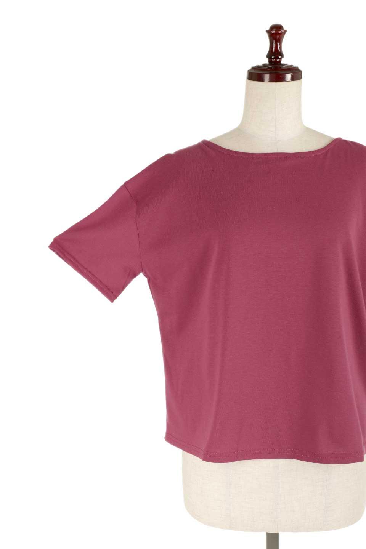 DrapeBackPull-overTopバックドレープ・カットソー大人カジュアルに最適な海外ファッションのothers(その他インポートアイテム)のトップスやシャツ・ブラウス。背中のドレープ感が可愛い半袖カットソー。やや厚めのTシャツ素材でこれからの季節におすすめのアイテムです。/main-24