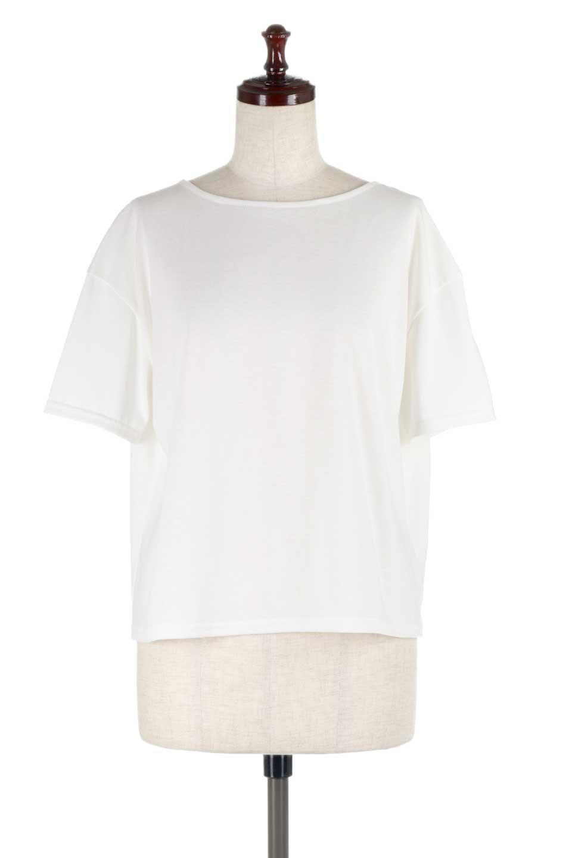 DrapeBackPull-overTopバックドレープ・カットソー大人カジュアルに最適な海外ファッションのothers(その他インポートアイテム)のトップスやシャツ・ブラウス。背中のドレープ感が可愛い半袖カットソー。やや厚めのTシャツ素材でこれからの季節におすすめのアイテムです。/main-5