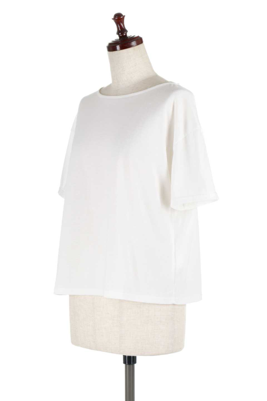 DrapeBackPull-overTopバックドレープ・カットソー大人カジュアルに最適な海外ファッションのothers(その他インポートアイテム)のトップスやシャツ・ブラウス。背中のドレープ感が可愛い半袖カットソー。やや厚めのTシャツ素材でこれからの季節におすすめのアイテムです。/main-6