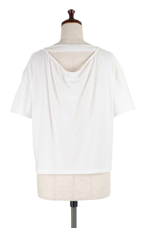 DrapeBackPull-overTopバックドレープ・カットソー大人カジュアルに最適な海外ファッションのothers(その他インポートアイテム)のトップスやシャツ・ブラウス。背中のドレープ感が可愛い半袖カットソー。やや厚めのTシャツ素材でこれからの季節におすすめのアイテムです。/main-9