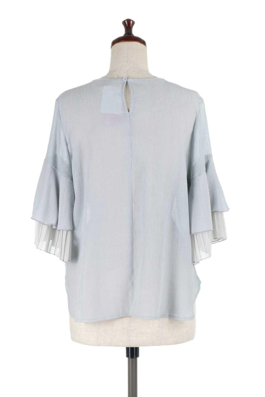 FauxLayeredPleatedSleeveTopプリーツスリーブ・フェイクレイヤードトップス大人カジュアルに最適な海外ファッションのothers(その他インポートアイテム)のトップスやシャツ・ブラウス。プリーツ入の袖が可愛いシフォンのブラウス。上品な透け感とフェミニンなディテールがオススメの4ポイントです。/main-14
