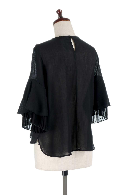 FauxLayeredPleatedSleeveTopプリーツスリーブ・フェイクレイヤードトップス大人カジュアルに最適な海外ファッションのothers(その他インポートアイテム)のトップスやシャツ・ブラウス。プリーツ入の袖が可愛いシフォンのブラウス。上品な透け感とフェミニンなディテールがオススメの4ポイントです。/main-18