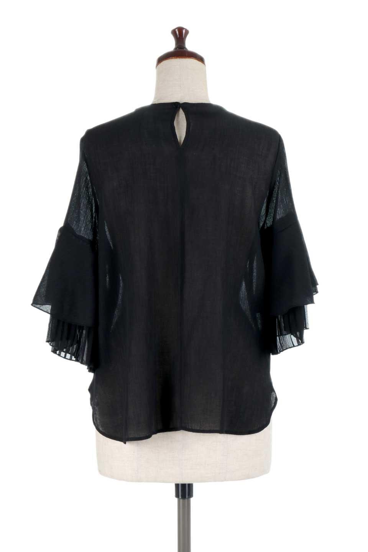 FauxLayeredPleatedSleeveTopプリーツスリーブ・フェイクレイヤードトップス大人カジュアルに最適な海外ファッションのothers(その他インポートアイテム)のトップスやシャツ・ブラウス。プリーツ入の袖が可愛いシフォンのブラウス。上品な透け感とフェミニンなディテールがオススメの4ポイントです。/main-19