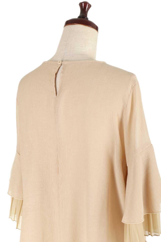 FauxLayeredPleatedSleeveTopプリーツスリーブ・フェイクレイヤードトップス大人カジュアルに最適な海外ファッションのothers(その他インポートアイテム)のトップスやシャツ・ブラウス。プリーツ入の袖が可愛いシフォンのブラウス。上品な透け感とフェミニンなディテールがオススメの4ポイントです。/main-21