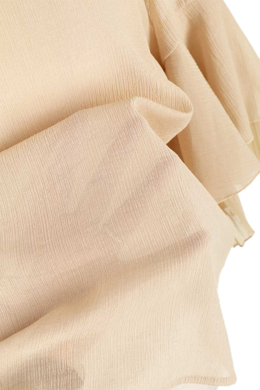 FauxLayeredPleatedSleeveTopプリーツスリーブ・フェイクレイヤードトップス大人カジュアルに最適な海外ファッションのothers(その他インポートアイテム)のトップスやシャツ・ブラウス。プリーツ入の袖が可愛いシフォンのブラウス。上品な透け感とフェミニンなディテールがオススメの4ポイントです。/main-24