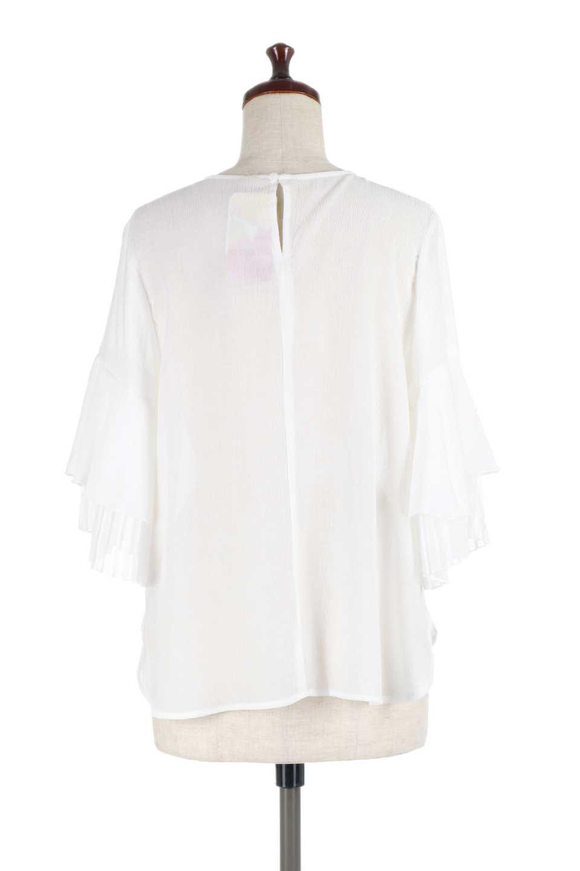FauxLayeredPleatedSleeveTopプリーツスリーブ・フェイクレイヤードトップス大人カジュアルに最適な海外ファッションのothers(その他インポートアイテム)のトップスやシャツ・ブラウス。プリーツ入の袖が可愛いシフォンのブラウス。上品な透け感とフェミニンなディテールがオススメの4ポイントです。/main-9