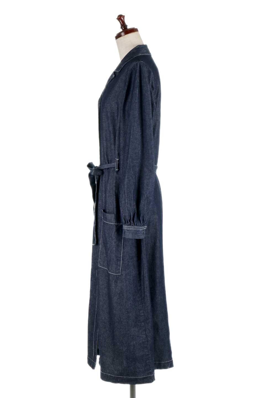 FullOpenDenimLongShirtsDressデニム・ロングシャツワンピース大人カジュアルに最適な海外ファッションのothers(その他インポートアイテム)のワンピースやマキシワンピース。大人気のシャツワンピースのデニム版。シャツのような薄手のデニムを使用した春夏バージョンです。/main-12