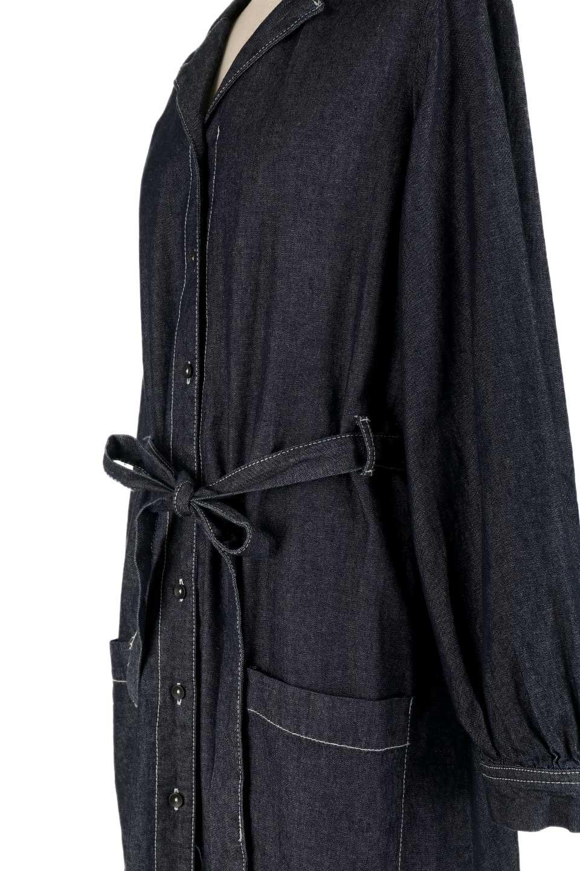 FullOpenDenimLongShirtsDressデニム・ロングシャツワンピース大人カジュアルに最適な海外ファッションのothers(その他インポートアイテム)のワンピースやマキシワンピース。大人気のシャツワンピースのデニム版。シャツのような薄手のデニムを使用した春夏バージョンです。/main-16
