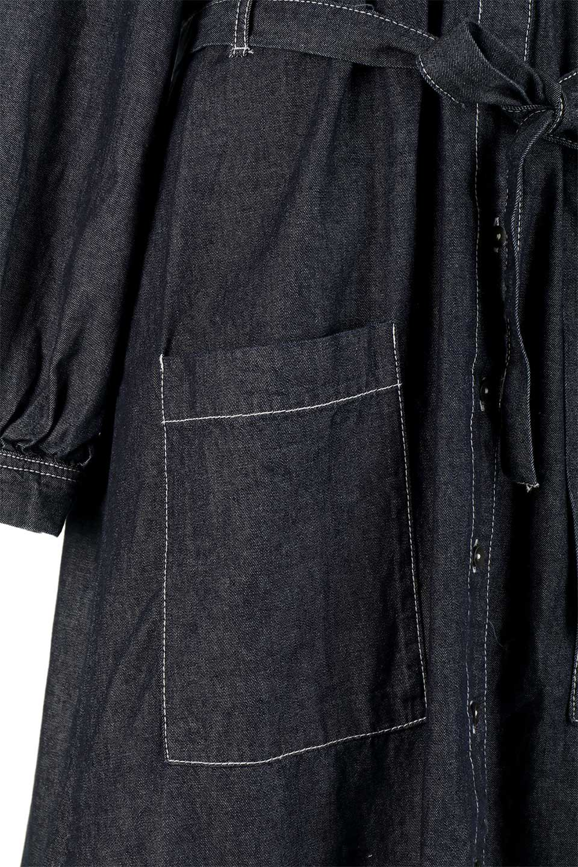 FullOpenDenimLongShirtsDressデニム・ロングシャツワンピース大人カジュアルに最適な海外ファッションのothers(その他インポートアイテム)のワンピースやマキシワンピース。大人気のシャツワンピースのデニム版。シャツのような薄手のデニムを使用した春夏バージョンです。/main-19