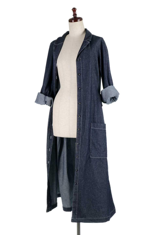 FullOpenDenimLongShirtsDressデニム・ロングシャツワンピース大人カジュアルに最適な海外ファッションのothers(その他インポートアイテム)のワンピースやマキシワンピース。大人気のシャツワンピースのデニム版。シャツのような薄手のデニムを使用した春夏バージョンです。/main-20