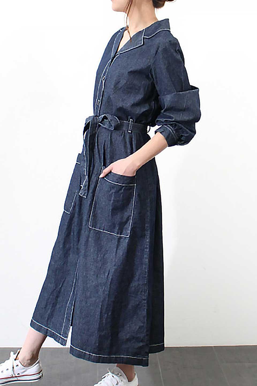 FullOpenDenimLongShirtsDressデニム・ロングシャツワンピース大人カジュアルに最適な海外ファッションのothers(その他インポートアイテム)のワンピースやマキシワンピース。大人気のシャツワンピースのデニム版。シャツのような薄手のデニムを使用した春夏バージョンです。/main-21