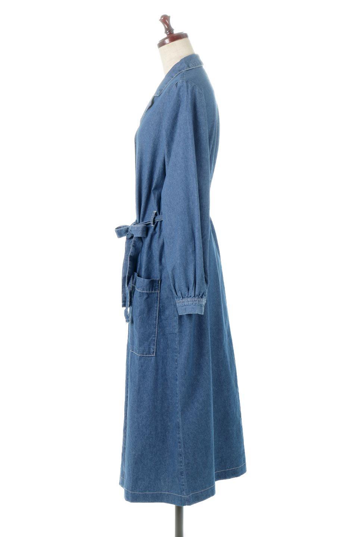 FullOpenDenimLongShirtsDressデニム・ロングシャツワンピース大人カジュアルに最適な海外ファッションのothers(その他インポートアイテム)のワンピースやマキシワンピース。大人気のシャツワンピースのデニム版。シャツのような薄手のデニムを使用した春夏バージョンです。/main-7