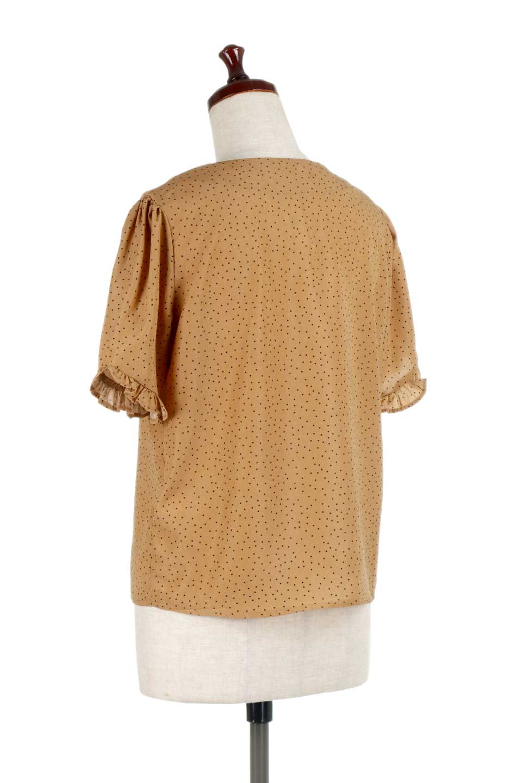 VNeckDottedBlouseVネック・ドットプリントブラウス大人カジュアルに最適な海外ファッションのothers(その他インポートアイテム)のトップスやシャツ・ブラウス。ランダムなドット柄が可愛いVネックのブラウス。半端丈の袖とスクエアタイプの裾が独特な雰囲気のアイテムです。/main-8