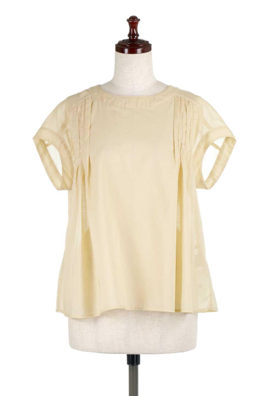 ShortSleeveTuckBlouseタック入り・半袖ブラウス大人カジュアルに最適な海外ファッションのothers(その他インポートアイテム)のトップスやシャツ・ブラウス。前後のタックがアクセントの大きめブラウス。あえてのスケ感がとても可愛いアイテムです。/main-10