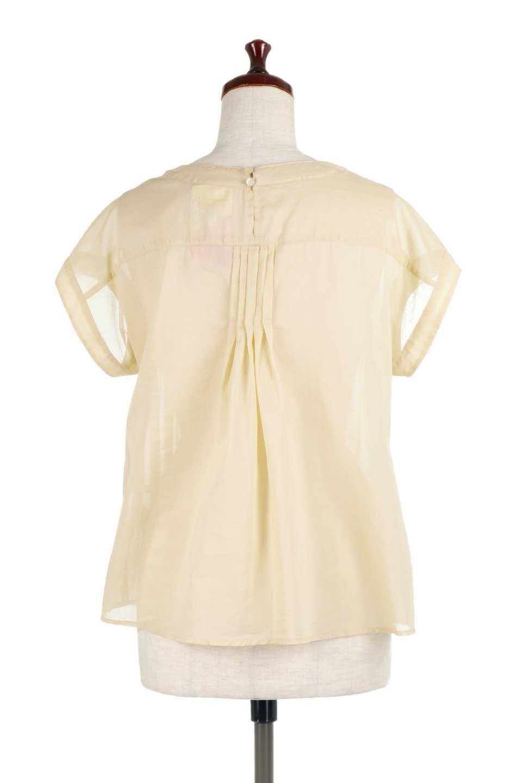 ShortSleeveTuckBlouseタック入り・半袖ブラウス大人カジュアルに最適な海外ファッションのothers(その他インポートアイテム)のトップスやシャツ・ブラウス。前後のタックがアクセントの大きめブラウス。あえてのスケ感がとても可愛いアイテムです。/main-14