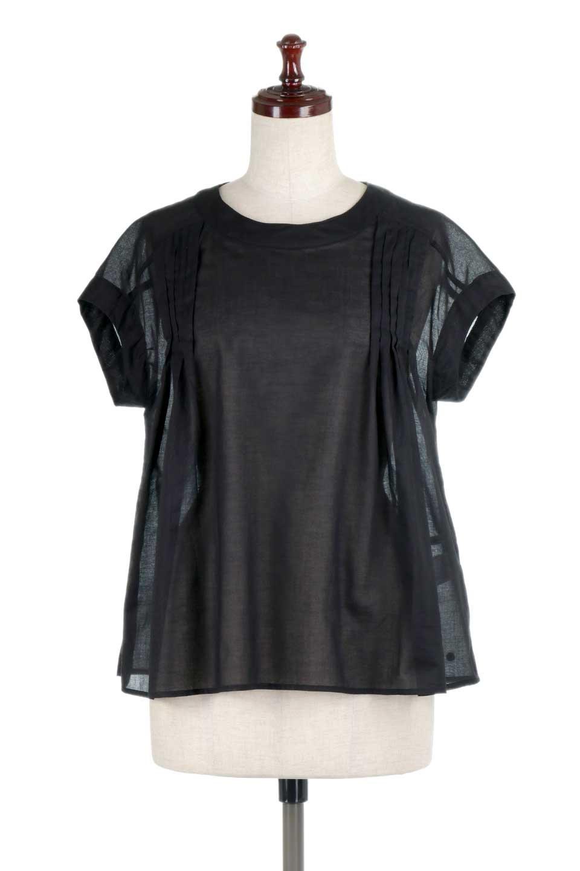ShortSleeveTuckBlouseタック入り・半袖ブラウス大人カジュアルに最適な海外ファッションのothers(その他インポートアイテム)のトップスやシャツ・ブラウス。前後のタックがアクセントの大きめブラウス。あえてのスケ感がとても可愛いアイテムです。/main-15