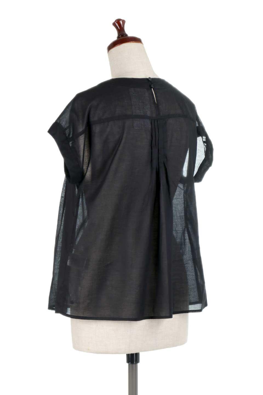 ShortSleeveTuckBlouseタック入り・半袖ブラウス大人カジュアルに最適な海外ファッションのothers(その他インポートアイテム)のトップスやシャツ・ブラウス。前後のタックがアクセントの大きめブラウス。あえてのスケ感がとても可愛いアイテムです。/main-18