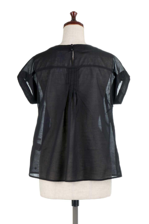 ShortSleeveTuckBlouseタック入り・半袖ブラウス大人カジュアルに最適な海外ファッションのothers(その他インポートアイテム)のトップスやシャツ・ブラウス。前後のタックがアクセントの大きめブラウス。あえてのスケ感がとても可愛いアイテムです。/main-19