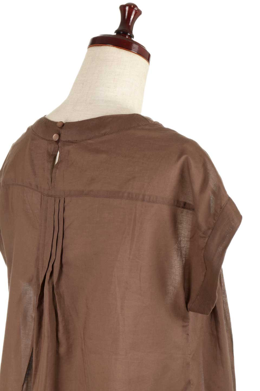 ShortSleeveTuckBlouseタック入り・半袖ブラウス大人カジュアルに最適な海外ファッションのothers(その他インポートアイテム)のトップスやシャツ・ブラウス。前後のタックがアクセントの大きめブラウス。あえてのスケ感がとても可愛いアイテムです。/main-22