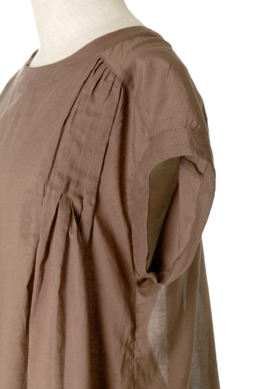 ShortSleeveTuckBlouseタック入り・半袖ブラウス大人カジュアルに最適な海外ファッションのothers(その他インポートアイテム)のトップスやシャツ・ブラウス。前後のタックがアクセントの大きめブラウス。あえてのスケ感がとても可愛いアイテムです。/main-23