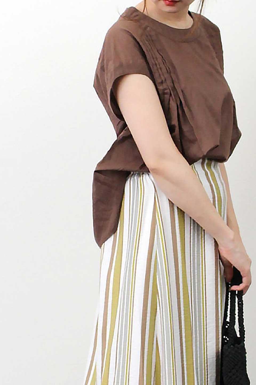 ShortSleeveTuckBlouseタック入り・半袖ブラウス大人カジュアルに最適な海外ファッションのothers(その他インポートアイテム)のトップスやシャツ・ブラウス。前後のタックがアクセントの大きめブラウス。あえてのスケ感がとても可愛いアイテムです。/main-28