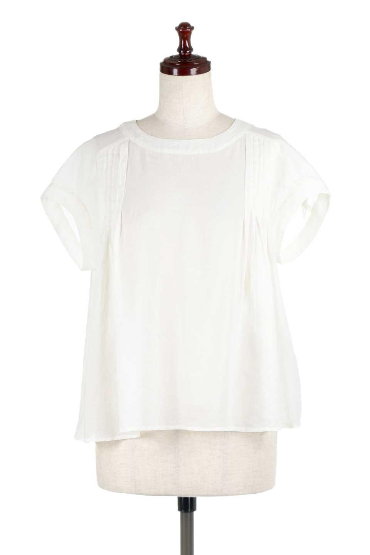 ShortSleeveTuckBlouseタック入り・半袖ブラウス大人カジュアルに最適な海外ファッションのothers(その他インポートアイテム)のトップスやシャツ・ブラウス。前後のタックがアクセントの大きめブラウス。あえてのスケ感がとても可愛いアイテムです。/main-5