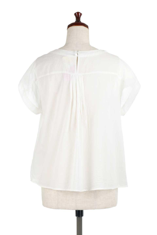 ShortSleeveTuckBlouseタック入り・半袖ブラウス大人カジュアルに最適な海外ファッションのothers(その他インポートアイテム)のトップスやシャツ・ブラウス。前後のタックがアクセントの大きめブラウス。あえてのスケ感がとても可愛いアイテムです。/main-9