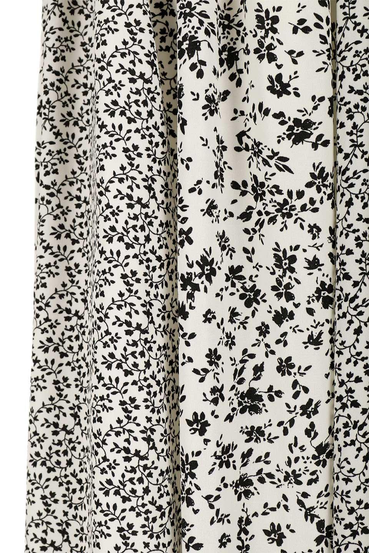 FloralPrintedPanelSkirt花柄・パネル切り替えスカート大人カジュアルに最適な海外ファッションのothers(その他インポートアイテム)のボトムやスカート。2種類の花柄プリントが可愛いマキシスカート。薄手でサラサラとした肌触りの生地で涼しげなスカートです。/main-7