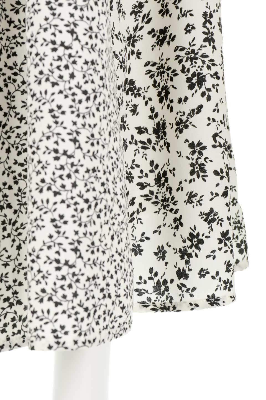 FloralPrintedPanelSkirt花柄・パネル切り替えスカート大人カジュアルに最適な海外ファッションのothers(その他インポートアイテム)のボトムやスカート。2種類の花柄プリントが可愛いマキシスカート。薄手でサラサラとした肌触りの生地で涼しげなスカートです。/main-8