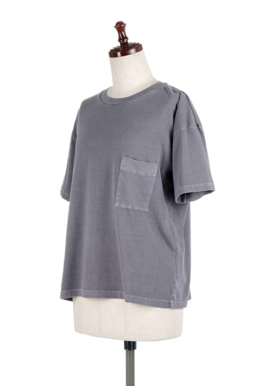 HardWashedPocketTピグメント加工・ポケ付きTシャツ大人カジュアルに最適な海外ファッションのothers(その他インポートアイテム)のトップスやTシャツ。気軽に着れるピグメント加工のポケット付きTシャツ。ピグメント加工でクタッとソフトな生地でカジュアル感のあるトップスです。/main-11
