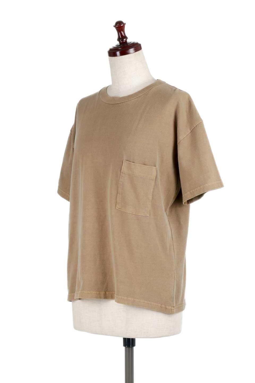 HardWashedPocketTピグメント加工・ポケ付きTシャツ大人カジュアルに最適な海外ファッションのothers(その他インポートアイテム)のトップスやTシャツ。気軽に着れるピグメント加工のポケット付きTシャツ。ピグメント加工でクタッとソフトな生地でカジュアル感のあるトップスです。/main-16