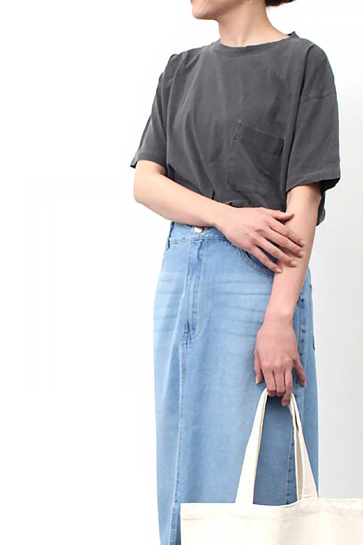 HardWashedPocketTピグメント加工・ポケ付きTシャツ大人カジュアルに最適な海外ファッションのothers(その他インポートアイテム)のトップスやTシャツ。気軽に着れるピグメント加工のポケット付きTシャツ。ピグメント加工でクタッとソフトな生地でカジュアル感のあるトップスです。/main-25