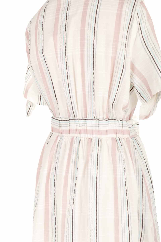 LOVESTITCHのMarlaStripedDressマルチストライプ・リボンシャツワンピース/海外ファッションが好きな大人カジュアルのためのLOVESTITCH(ラブステッチ)のワンピースやミディワンピース。優しい色合いのマルチストライプが可愛いシャツワンピース。アメリカンレトロな雰囲気のシルエット。/main-10