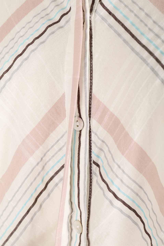 LOVESTITCHのMarlaStripedDressマルチストライプ・リボンシャツワンピース/海外ファッションが好きな大人カジュアルのためのLOVESTITCH(ラブステッチ)のワンピースやミディワンピース。優しい色合いのマルチストライプが可愛いシャツワンピース。アメリカンレトロな雰囲気のシルエット。/main-13