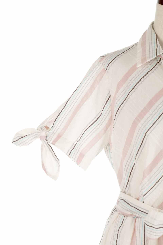 LOVESTITCHのMarlaStripedDressマルチストライプ・リボンシャツワンピース/海外ファッションが好きな大人カジュアルのためのLOVESTITCH(ラブステッチ)のワンピースやミディワンピース。優しい色合いのマルチストライプが可愛いシャツワンピース。アメリカンレトロな雰囲気のシルエット。/main-14