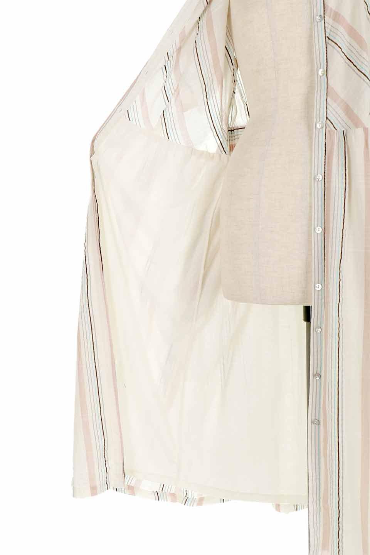 LOVESTITCHのMarlaStripedDressマルチストライプ・リボンシャツワンピース/海外ファッションが好きな大人カジュアルのためのLOVESTITCH(ラブステッチ)のワンピースやミディワンピース。優しい色合いのマルチストライプが可愛いシャツワンピース。アメリカンレトロな雰囲気のシルエット。/main-16