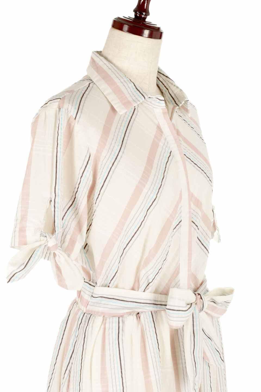 LOVESTITCHのMarlaStripedDressマルチストライプ・リボンシャツワンピース/海外ファッションが好きな大人カジュアルのためのLOVESTITCH(ラブステッチ)のワンピースやミディワンピース。優しい色合いのマルチストライプが可愛いシャツワンピース。アメリカンレトロな雰囲気のシルエット。/main-5