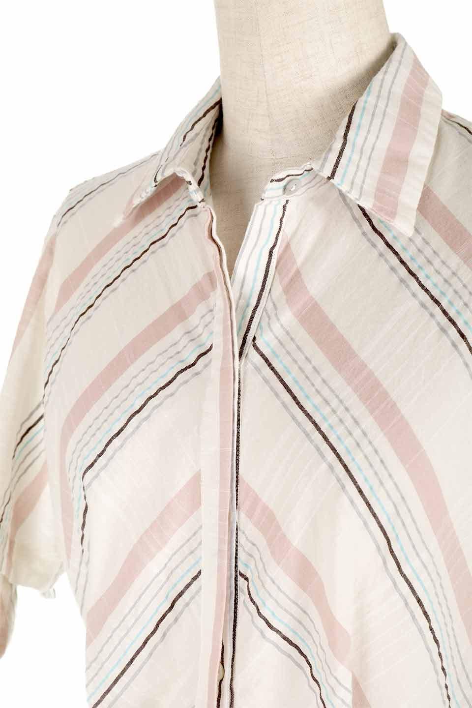 LOVESTITCHのMarlaStripedDressマルチストライプ・リボンシャツワンピース/海外ファッションが好きな大人カジュアルのためのLOVESTITCH(ラブステッチ)のワンピースやミディワンピース。優しい色合いのマルチストライプが可愛いシャツワンピース。アメリカンレトロな雰囲気のシルエット。/main-7